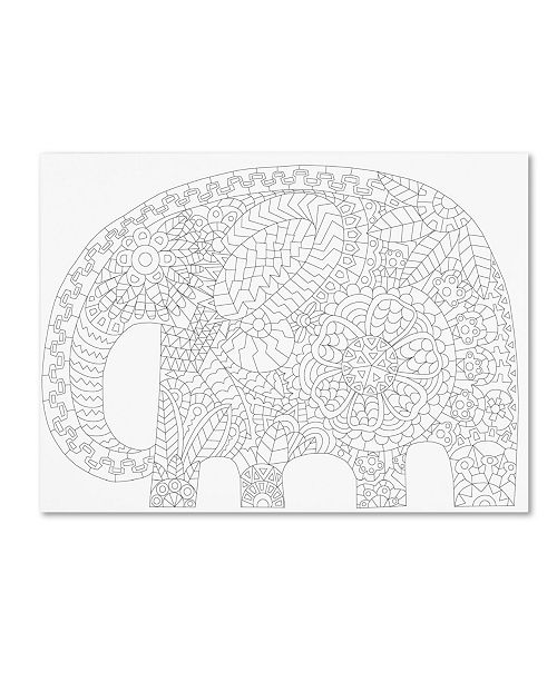 "Trademark Global Miguel Balbas 'Big Elephant 1' Canvas Art - 47"" x 35"" x 2"""
