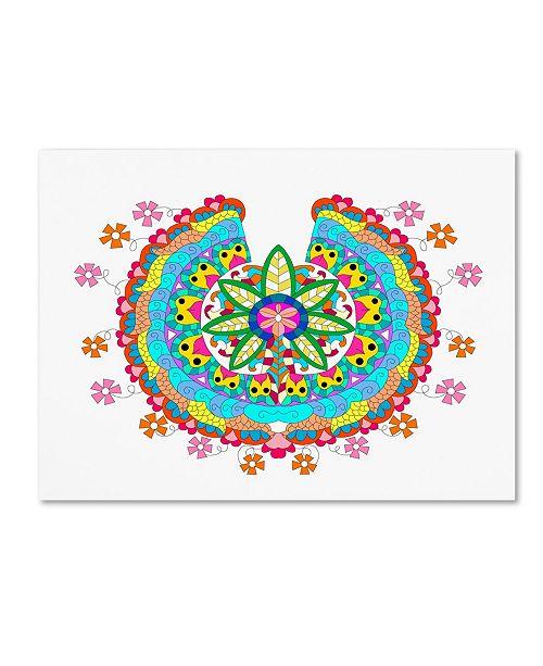 """Trademark Global Miguel Balbas 'Flower 2' Canvas Art - 32"""" x 24"""" x 2"""""""