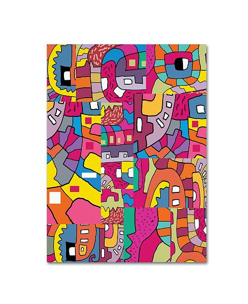 "Trademark Global Miguel Balbas 'Collage I' Canvas Art - 24"" x 18"" x 2"""