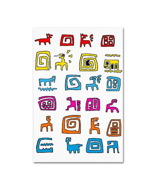 """Trademark Global Miguel Balbas 'Animals And Things' Canvas Art - 19"""" x 12"""" x 2"""""""