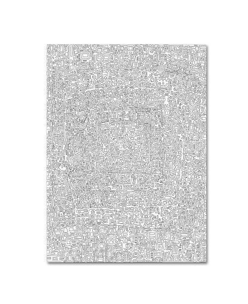"""Trademark Global Miguel Balbas 'Maze 6 Line' Canvas Art - 32"""" x 24"""" x 2"""""""