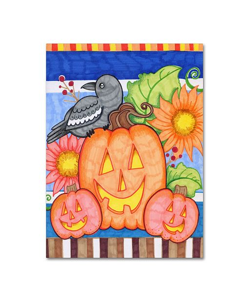 "Trademark Global Valarie Wade 'Crows Pumpkin Patch' Canvas Art - 47"" x 35"" x 2"""