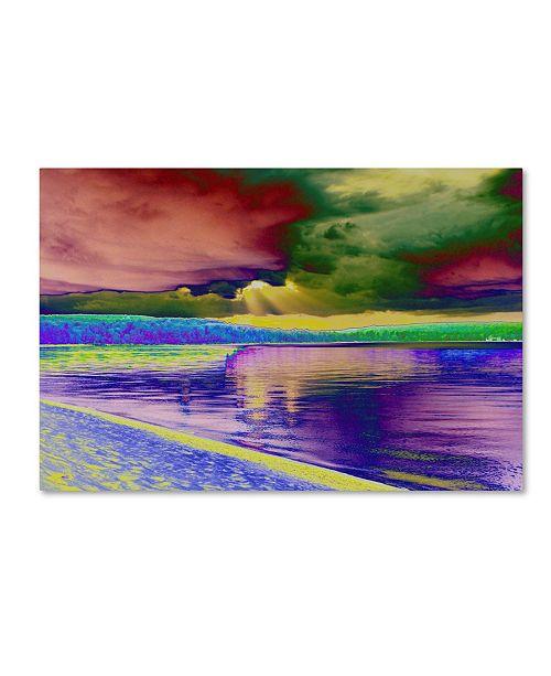 "Trademark Global Tom Kelly 'Lakes 5' Canvas Art - 47"" x 30"" x 2"""