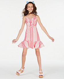Rare Editions Big Girls Multi-Stripe Bow Dress