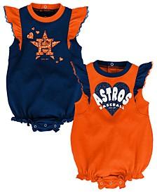 Baby Houston Astros Double Trouble Bodysuit Set