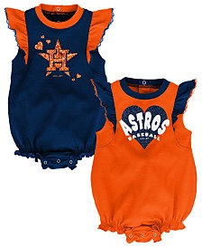 Outerstuff Baby Houston Astros Double Trouble Bodysuit Set