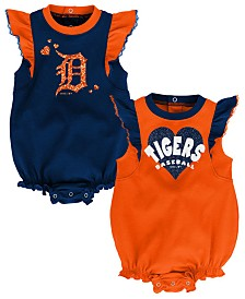 Outerstuff Baby Detroit Tigers Double Trouble Bodysuit Set