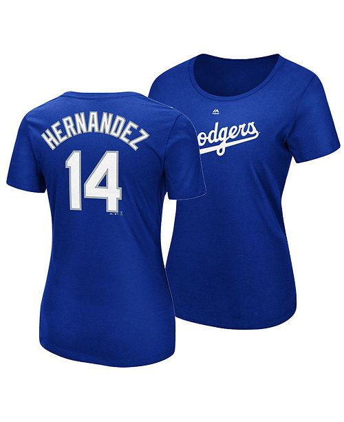 the best attitude 42d9c 39e86 Women's Enrique Hernandez Los Angeles Dodgers Crew Player T-Shirt