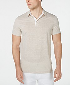 Men's Regular-Fit End-On-End Stripe Linen Blend Polo Shirt, Created for Macy's