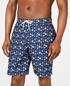 "Men's Baja Tasso Tropical-Print 9"" Board Shorts"