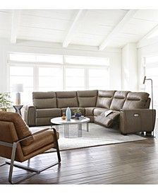 Cheadle Leather Sectional Sofa Collection, Created for Macy's