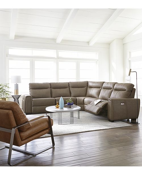 Furniture Cheadle Leather Sectional Sofa Collection, Created for Macy's