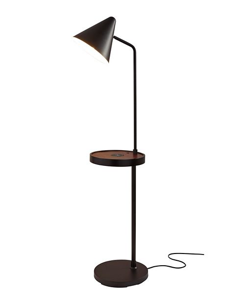 Wireless Charging Task Shelf Floor Lamp