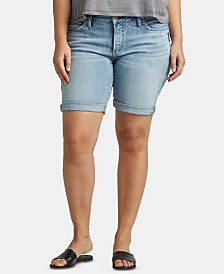 Silver Jeans Co. Trendy Plus Size Suki Denim Bermuda Shorts