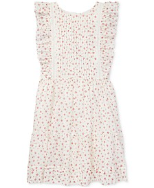 Polo Ralph Lauren Big Girls Floral Ruffled Cotton Dress