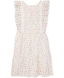 Polo Ralph Lauren Big Girls Floral Ruffled Cotton Dress