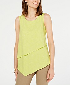 Petite Asymmetrical Overlay Top, Created for Macy's