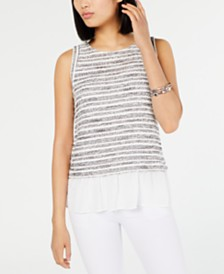 I.N.C. Two-Piece Sleeveless Top, Created for Macy's