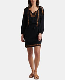 Lucky Brand Cotton Kelly Embroidered Shift Dress