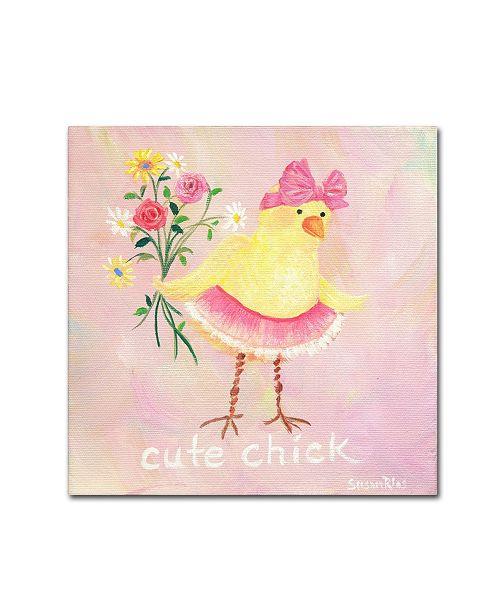 """Trademark Global Susan Rios 'Cute Chick' Canvas Art - 14"""" x 14"""" x 2"""""""