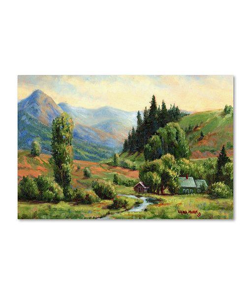 "Trademark Global Wanda Mumm 'Indian Spring Ranch' Canvas Art - 47"" x 30"" x 2"""