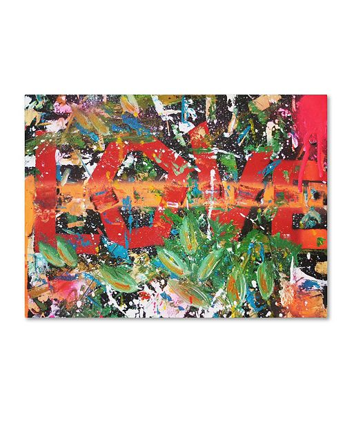 "Trademark Global Sr.LaSso 'All We Need Is Love' Canvas Art - 19"" x 14"" x 2"""