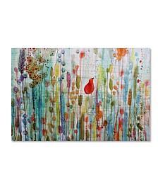 """Sylvie Demers 'Une Ame Dans Le Jardin' Canvas Art - 47"""" x 30"""" x 2"""""""