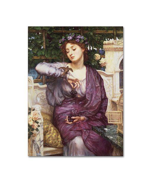 "Trademark Global Sir Edward Poynter 'Libra and Sparrow' Canvas Art - 47"" x 35"" x 2"""