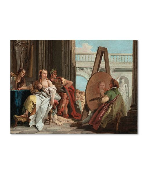 """Trademark Global Tiepolo 'Alexander The Great And Campaspe In The Studio' Canvas Art - 19"""" x 14"""" x 2"""""""