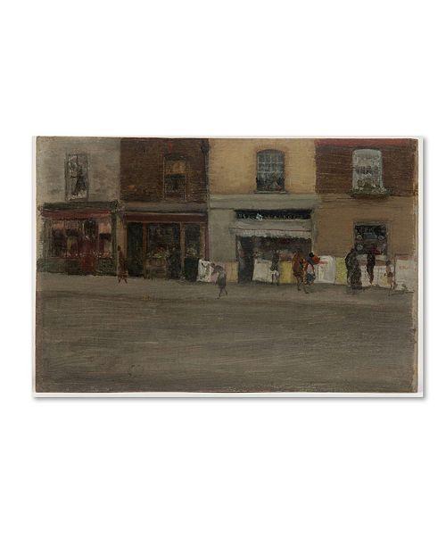 "Trademark Global Whistler 'Chelsea Shops' Canvas Art - 32"" x 22"" x 2"""