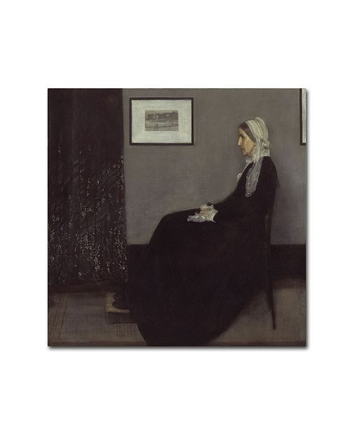 "Trademark Global Whistler 'Whistlers Mother' Canvas Art - 35"" x 35"" x 2"""
