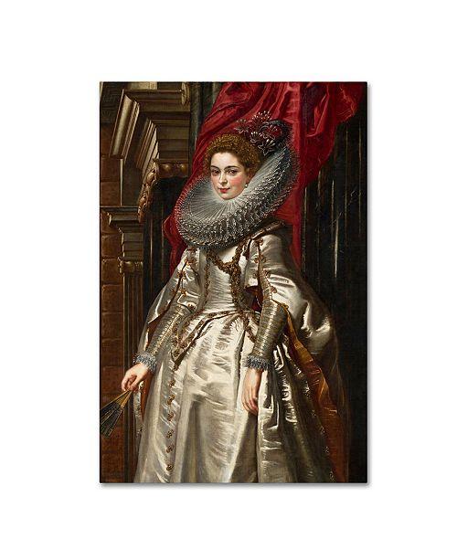 "Trademark Global Peter Paul Rubens 'Marchesa Brigida' Canvas Art - 19"" x 12"" x 2"""