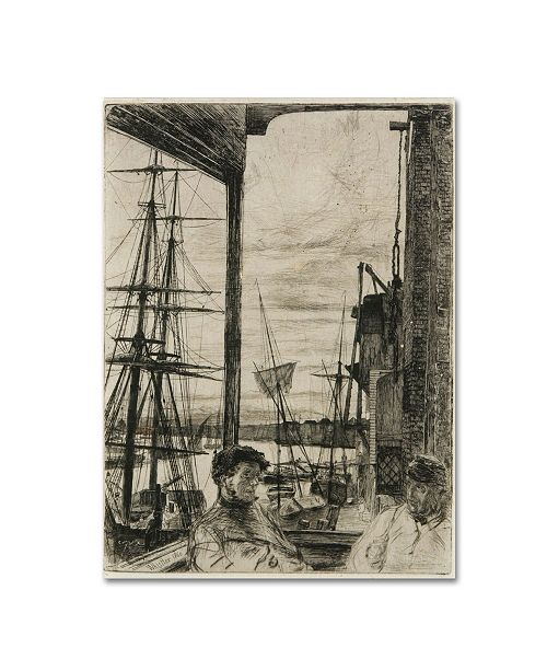 "Trademark Global Whistler 'Rotherhithe' Canvas Art - 24"" x 18"" x 2"""