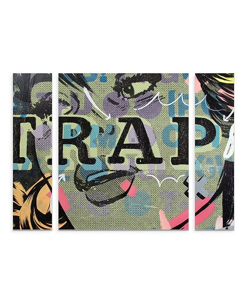 "Trademark Global Dan Monteavaro 'Trap' Multi Panel Art Set Large - 30"" x 41"" x 2"""