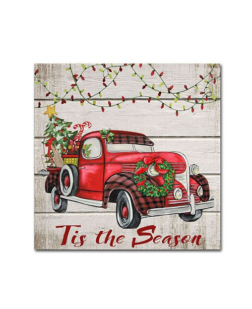 "Trademark Global Jean Plout 'Vintage Christmas Truck 5' Canvas Art - 18"" x 18"" x 2"""