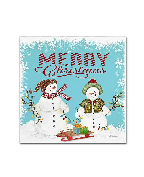 "Trademark Global Jean Plout 'Merry Christmas 1' Canvas Art - 14"" x 14"" x 2"""