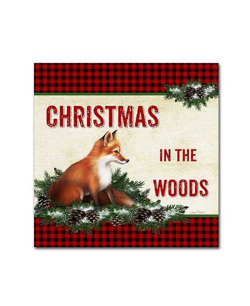 """Trademark Global Jean Plout 'Country Christmas 6' Canvas Art - 14"""" x 14"""" x 2"""""""