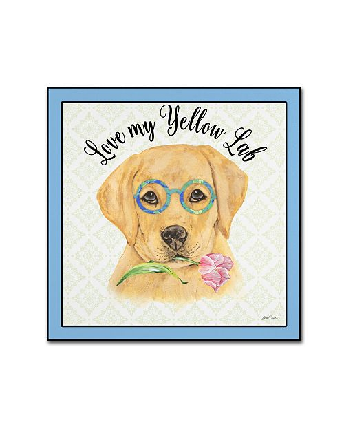"Trademark Global Jean Plout 'Yellow Lab' Canvas Art - 35"" x 35"" x 2"""
