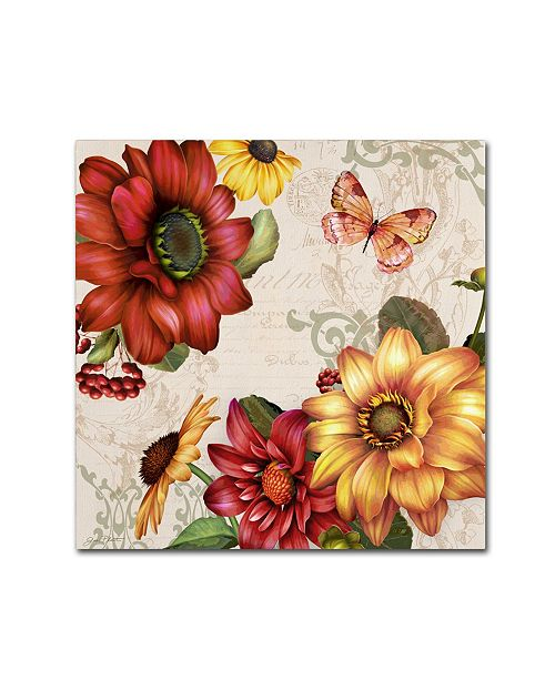 "Trademark Global Jean Plout 'Autumn Bouquet 7' Canvas Art - 14"" x 14"" x 2"""