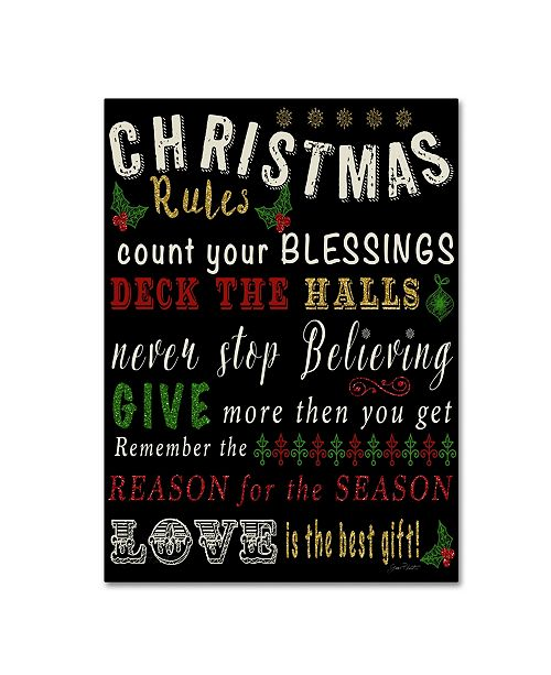 "Trademark Global Jean Plout 'Christmas Rules' Canvas Art - 47"" x 35"" x 2"""