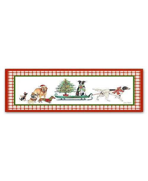 "Trademark Global Jean Plout 'Christmas Parade 1' Canvas Art - 24"" x 8"" x 2"""