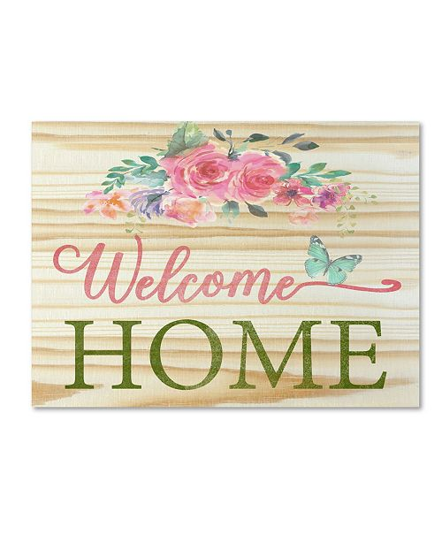 "Trademark Global Jean Plout 'Welcome Home 1' Canvas Art - 24"" x 18"" x 2"""