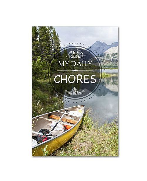"""Trademark Global Jean Plout 'My Daily CHORES' Canvas Art - 19"""" x 12"""" x 2"""""""