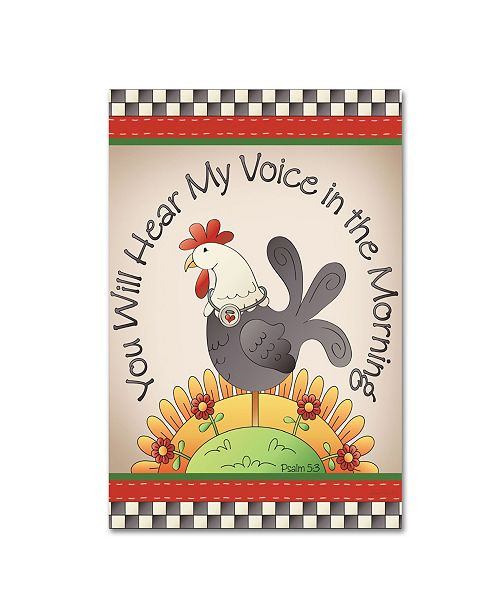 "Trademark Global Jean Plout 'Hear My Voice' Canvas Art - 24"" x 16"" x 2"""