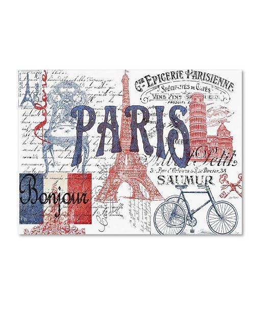 "Trademark Global Jean Plout 'Paris Tray 1' Canvas Art - 24"" x 18"" x 2"""
