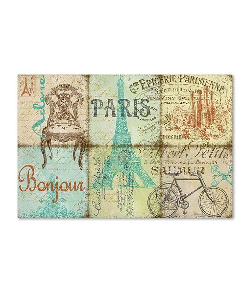 "Trademark Global Jean Plout 'Parisienne 1' Canvas Art - 47"" x 30"" x 2"""