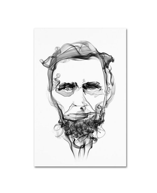 "Trademark Innovations Octavian Mielu 'Abraham Lincoln' Canvas Art - 24"" x 16"" x 2"""