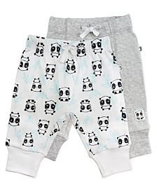 Mac and Moon 2-Pack Gray and Panda Print Pants