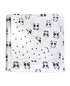 Mac and Moon Panda Print 2-Ply Receiving Blanket