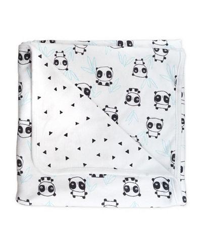 Mac and Moon Panda Print 2-Ply Receiving Blanket
